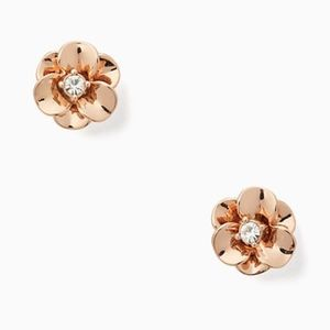 NWT~KATE SPADE~Shine on Flower Studs, Rose Gold